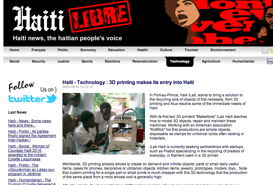 Haiti Libre Haitian News Source Press Kidmob