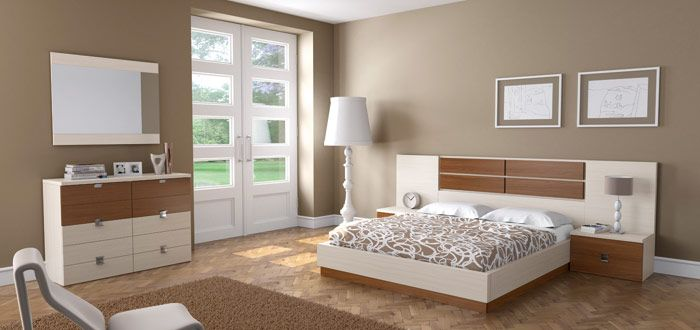 dormitorios matrimoniales muebles blancos - Buscar con Google  Pintar para P...