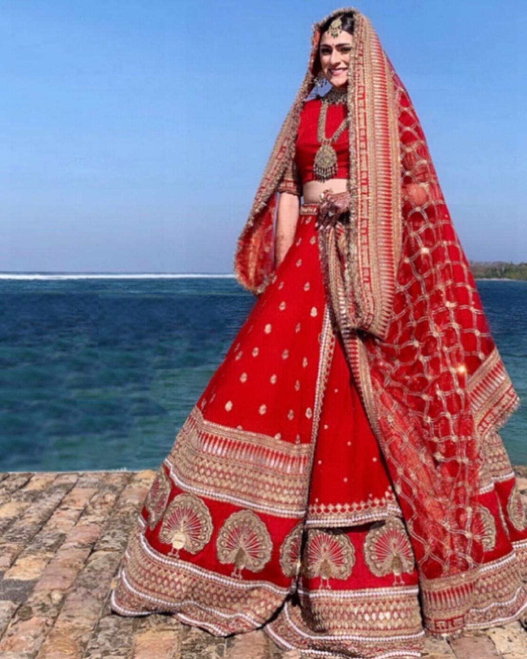 Deepika Padukone Red Bridal Lehenga Bridal Lehenga Red Indian Bride Outfits Indian Bridal Outfits