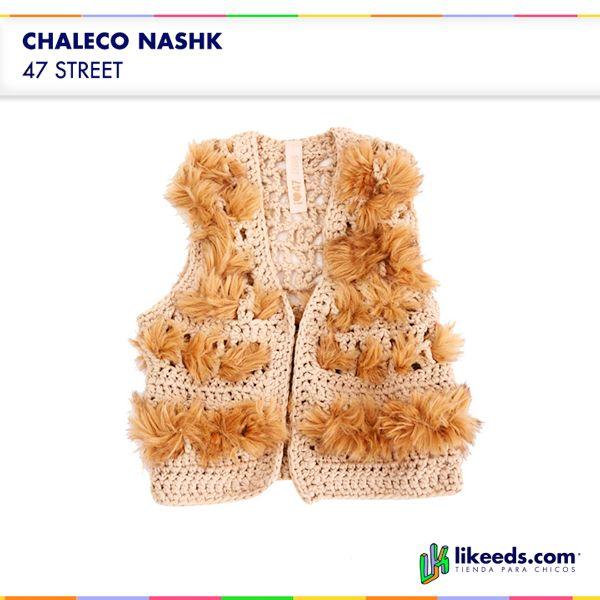#Chaleco de 47 street #Moda #Folk #Niños  Para ver talles y comprar ¡Hacé click en la imagen!
