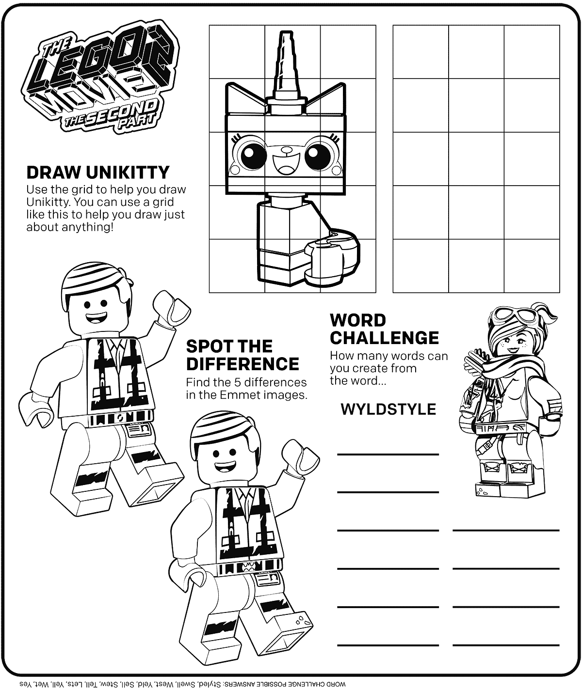 Coloring Pages Lego Movie 2 Pictures