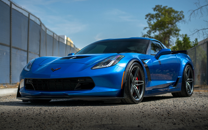 Download Wallpapers Chevrolet Corvette Z06 2017 4k Tuning