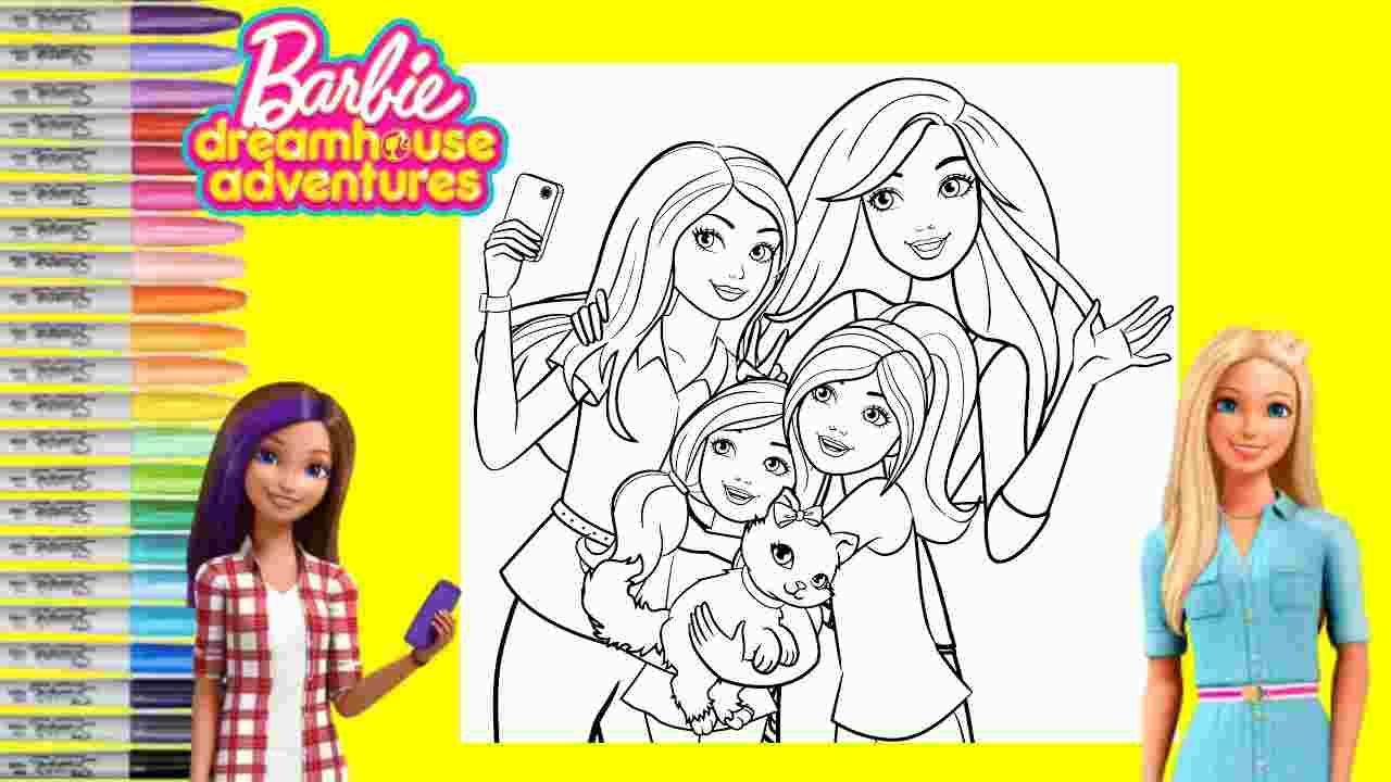 Barbie Dreamhouse Adventures Coloring Pages