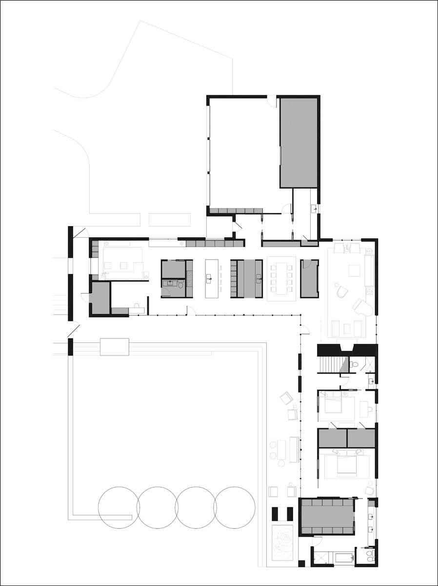 userschasedesktoparnow aia finaldwgpresentation plans  courtyard house planscourtyard designhouse also best  shaped images diy ideas for home rh pinterest
