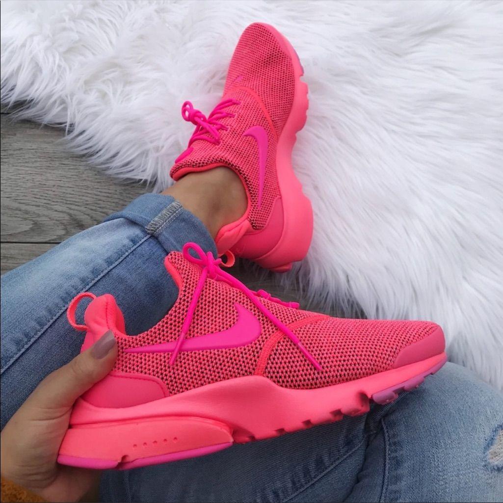 neon lyserød nike presto authentic