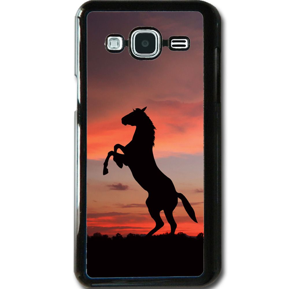 best website 8d06c 3f22b 8.99AUD - For Samsung Galaxy J3 (2016) Case Phone Cover Horse Sunset ...