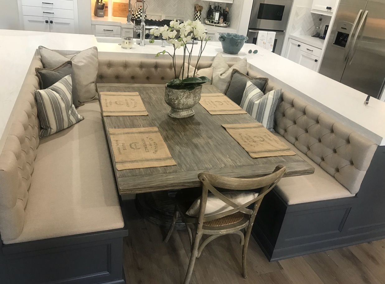 Pin By Alexandra Sikes On Let S Build A House Booth Seating In Kitchen Home Decor Kitchen Kitchen Inspiration Design