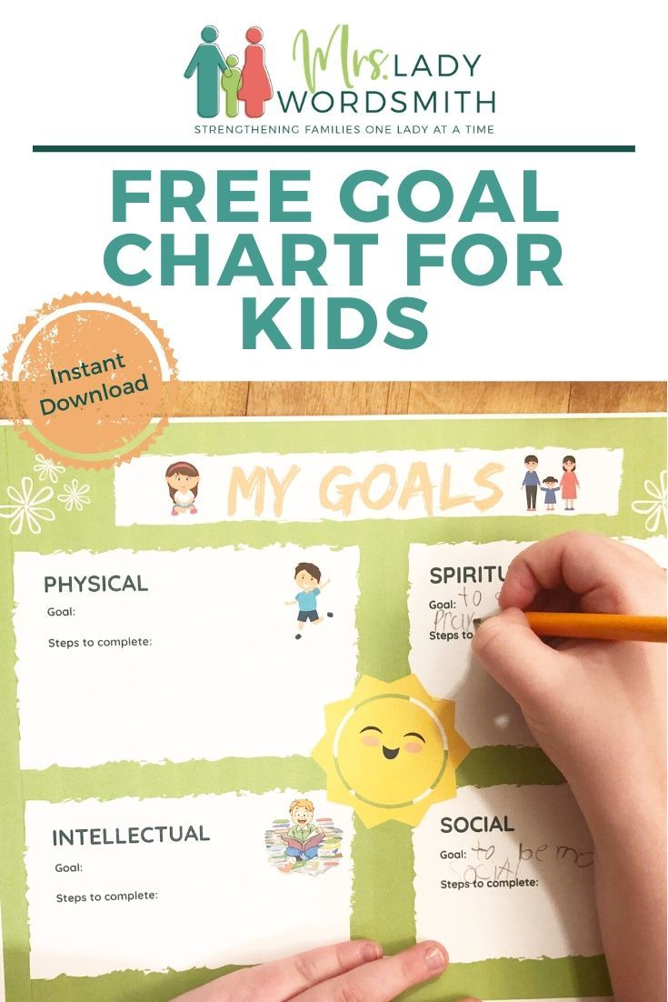 Free Goals Chart for Kids