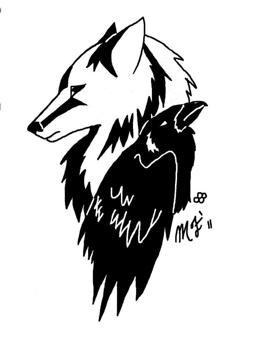 Wolf And Raven Corvo Tatuagens Lobo