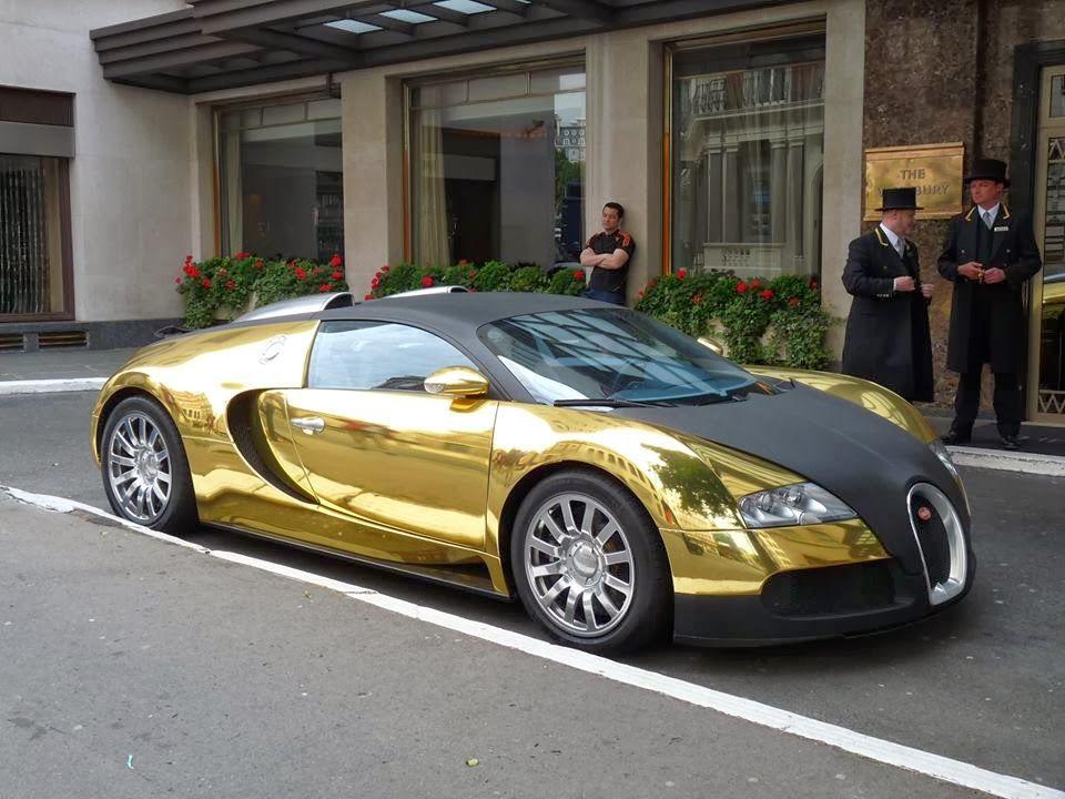 Gold-Plated Bugatti Veyron