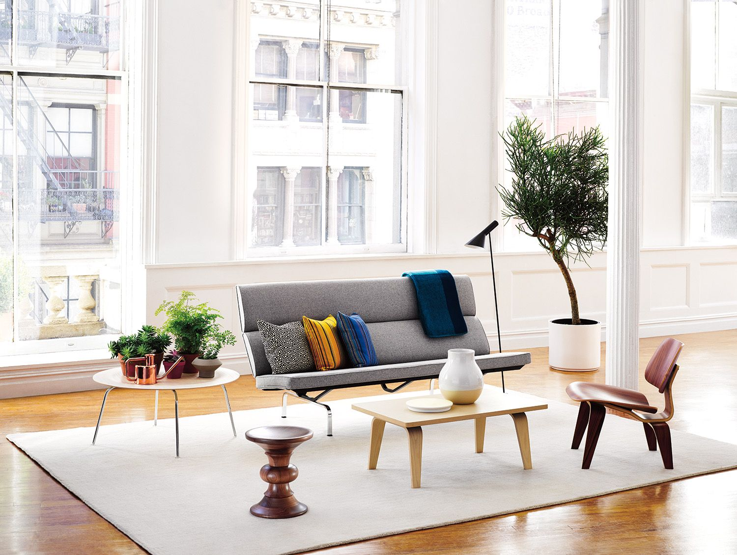 The Eames Compact Sofa Shown In The Heather Grey Noble Fabric  Http://store.hermanmiller.com/Products/Eames Sofa Compact