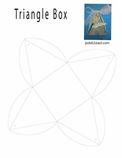 triangle box template by janecs cards and paper crafts at