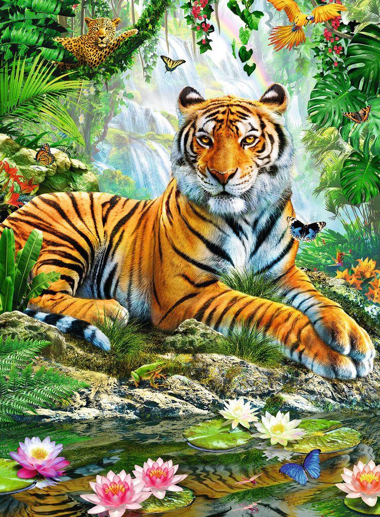 ravensburger tiger im urwald 1000 teile  tiere malen
