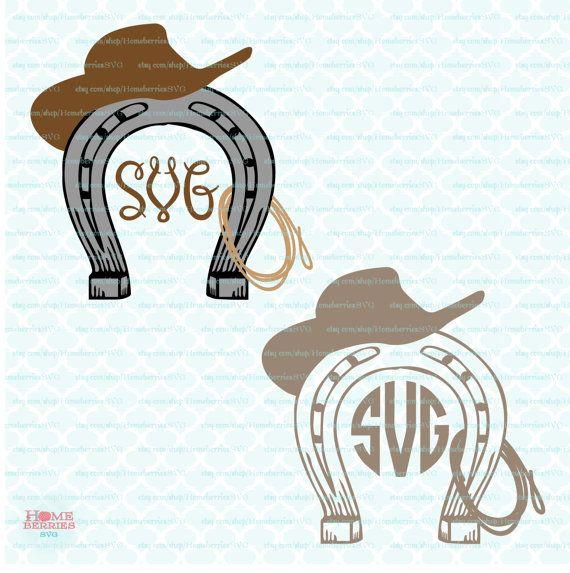 Western theme monogram frame svg wild west svg cowboy svg