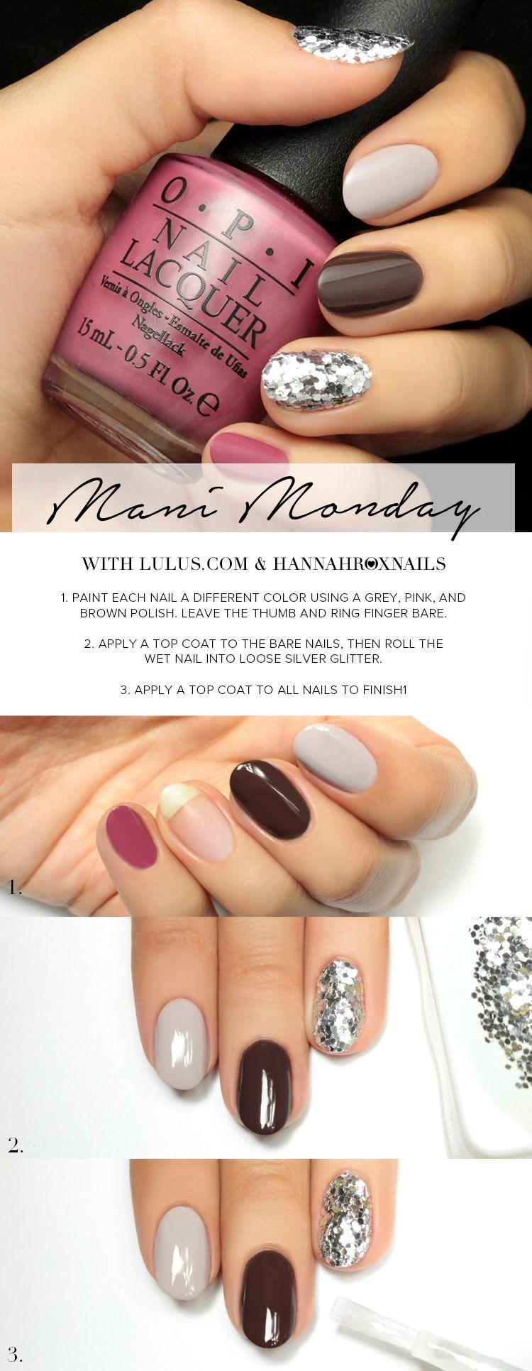 Mani Monday: Fall Sequin Nail Tutorial   Sequins, Mondays and Tutorials