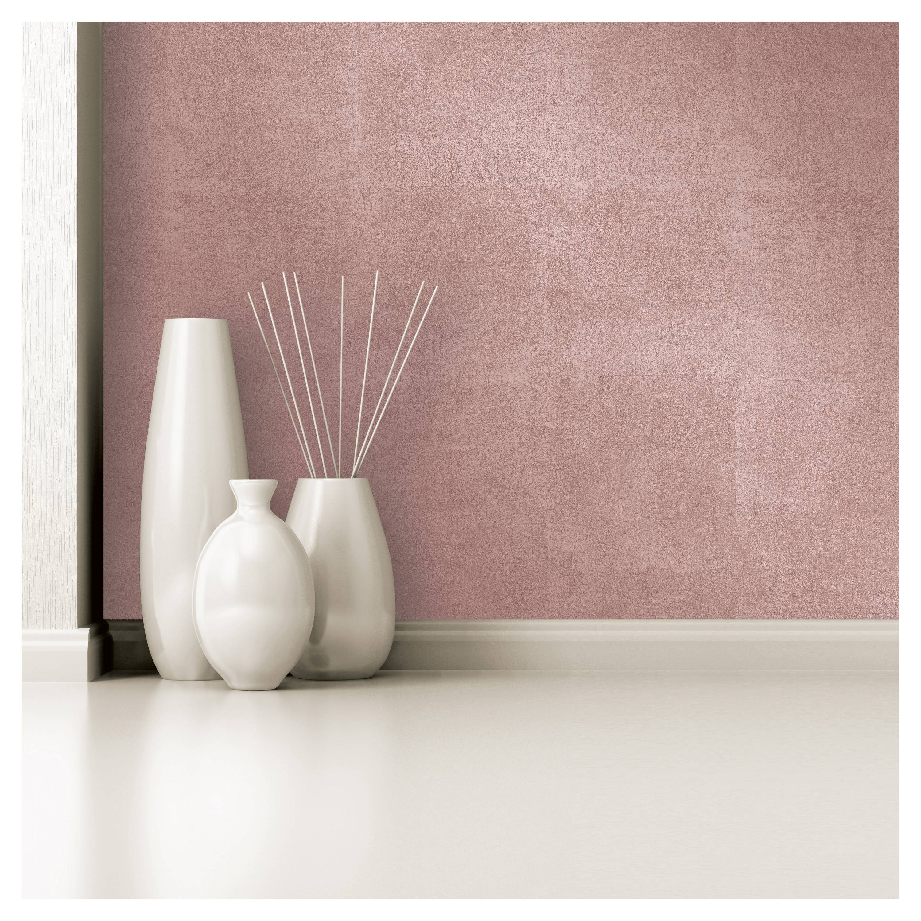 Metallic Leaf Peel Stick Wallpaper Pink Project 62 Peel And Stick Wallpaper Rose Gold Painting Gold Accent Wall
