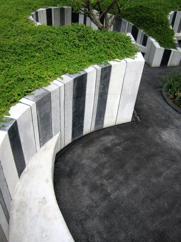 TROP terrains + open space - sichtschutz auf sttzmauer