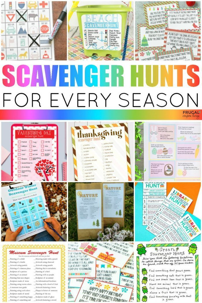 Printable Scavenger Hunts for Kids Scavenger hunt for