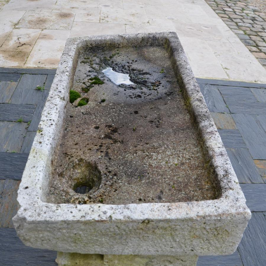 vier ancien en pierre calcaire longueur 105 cm vier vasque en pierre naturelle sink. Black Bedroom Furniture Sets. Home Design Ideas