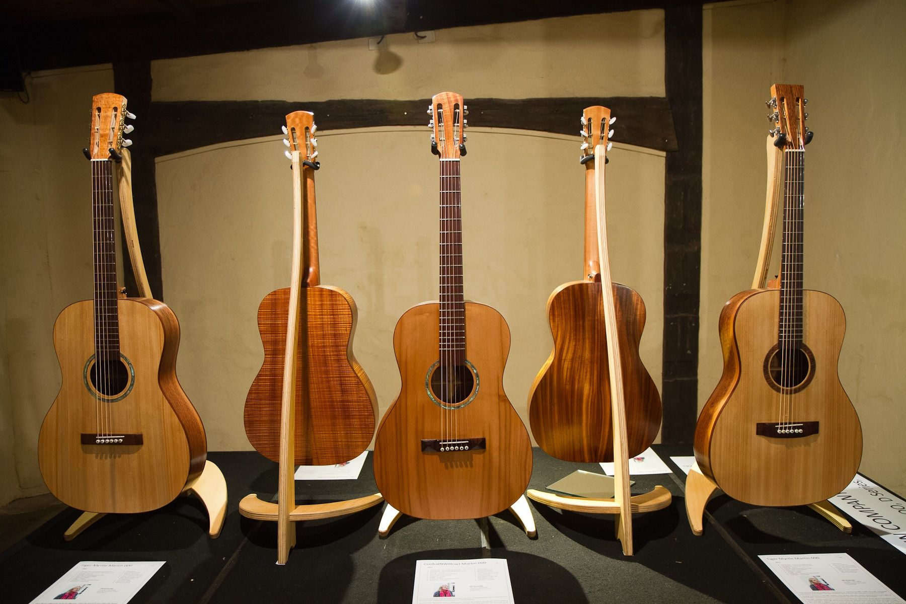"""On show at """"Beyond the Trees Guitar Exhibition"""". Montsalvat, 2012."""