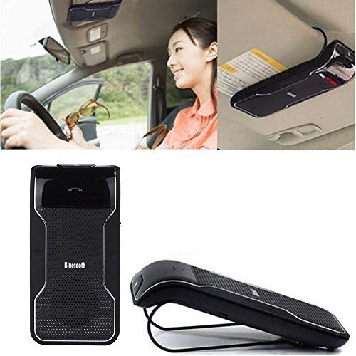 DLAND Bluetooth Visor Multipoint Speakerphone Car kit - Wireless Handsfree Speaker For iPhone 5 5S 5C 4S 4 iPad, Samsung Galaxy S5 S4 Note 2 Note 3, Google Nexus 7, Google LG Nexus 4, Google LG Optimus G Pro, Sony Xperia Z1 L39H Z L36h, Blackberry Z10, Smart Phones and All Bluetooth-enabled Cellphone ** Read more reviews of the product by visiting the link on the image.