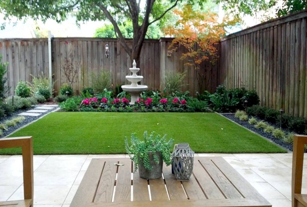 Nice 20 Stunning Small Backyard Patio Ideas With Low Budget Https Freshouz Com 20 Stunn Small Garden Design Small Backyard Landscaping Backyard Garden Design