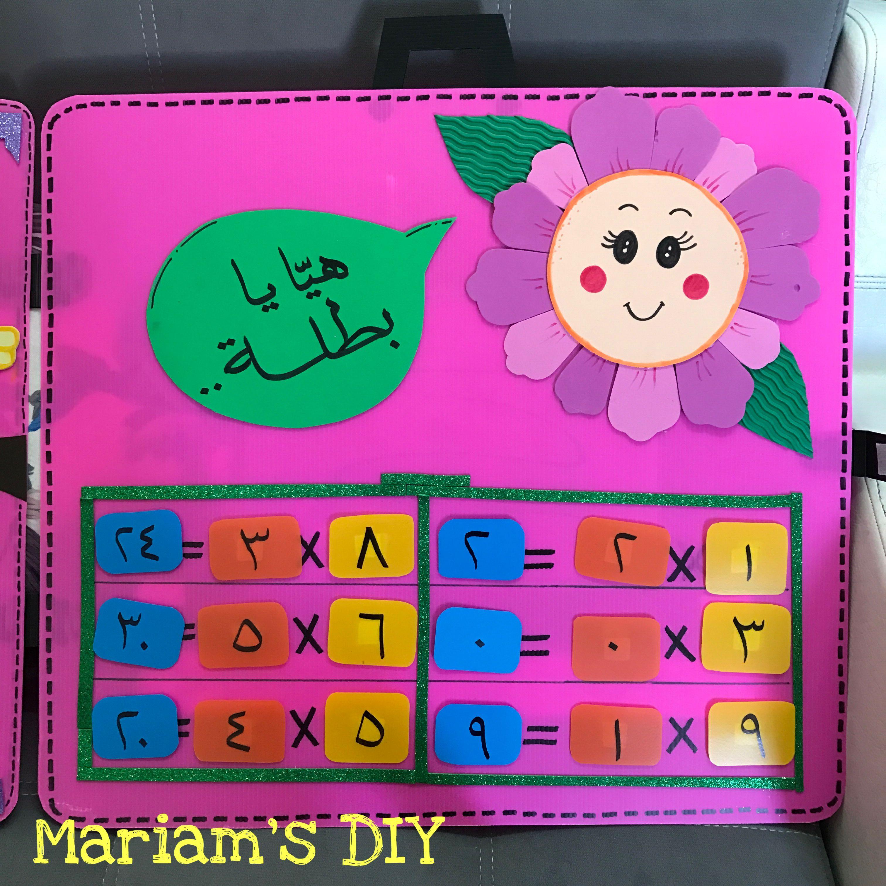 Pin By Mariam S Diy مريم دعيس On وسائل تعليمية يدوية Math School Diy