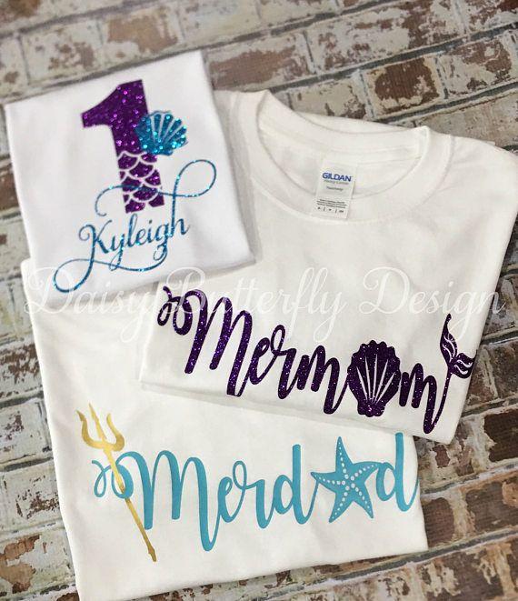 73114fe8486a Mermaid Birthday Shirts- Adult in 2019 | Products | Birthday shirts ...