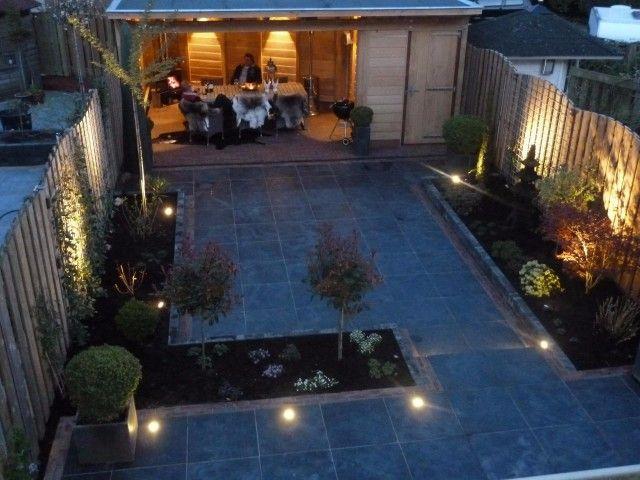 Voorbeelden   Bestrating in Zeist met natuursteen en verlichting ...