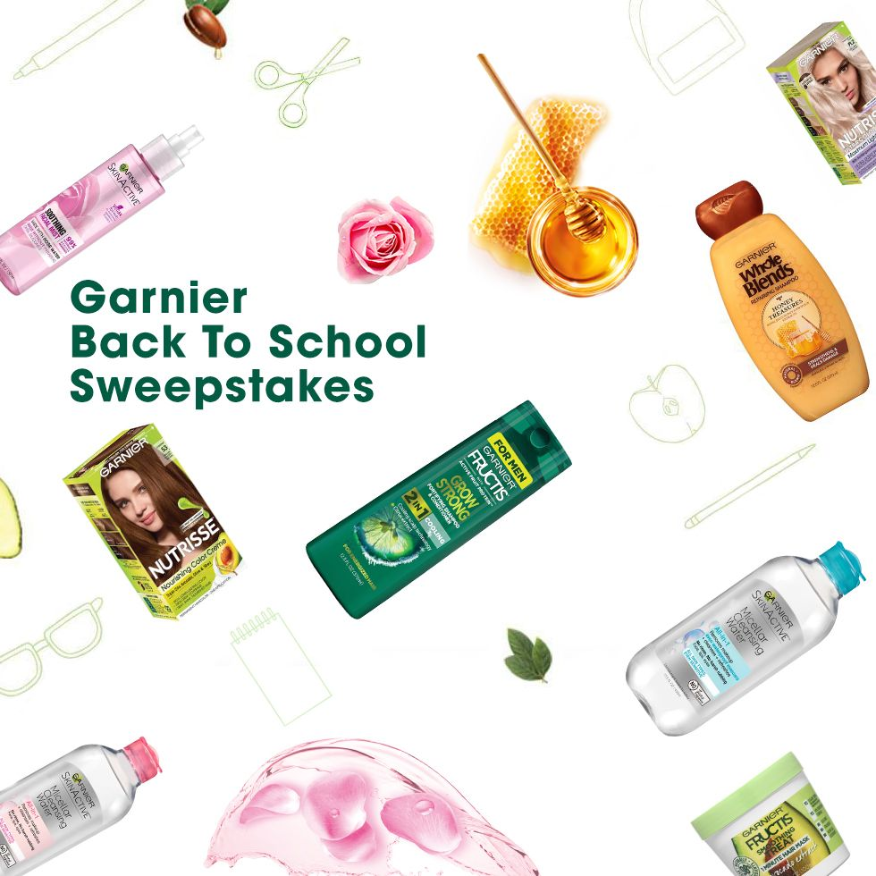Enter For A Chance To Win A 1 Year Supply Of Garnier Products And