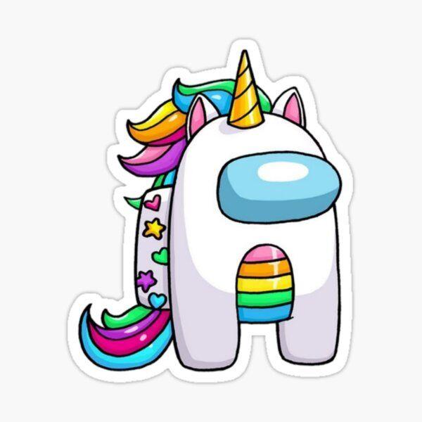 Pegatina 'entre nosotros unicornio' de artask