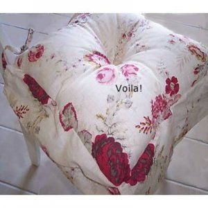 Image Detail For  Waverly 2 Dining Chair Pads Cushion Vintage Rose Shabby  Garden Cottage