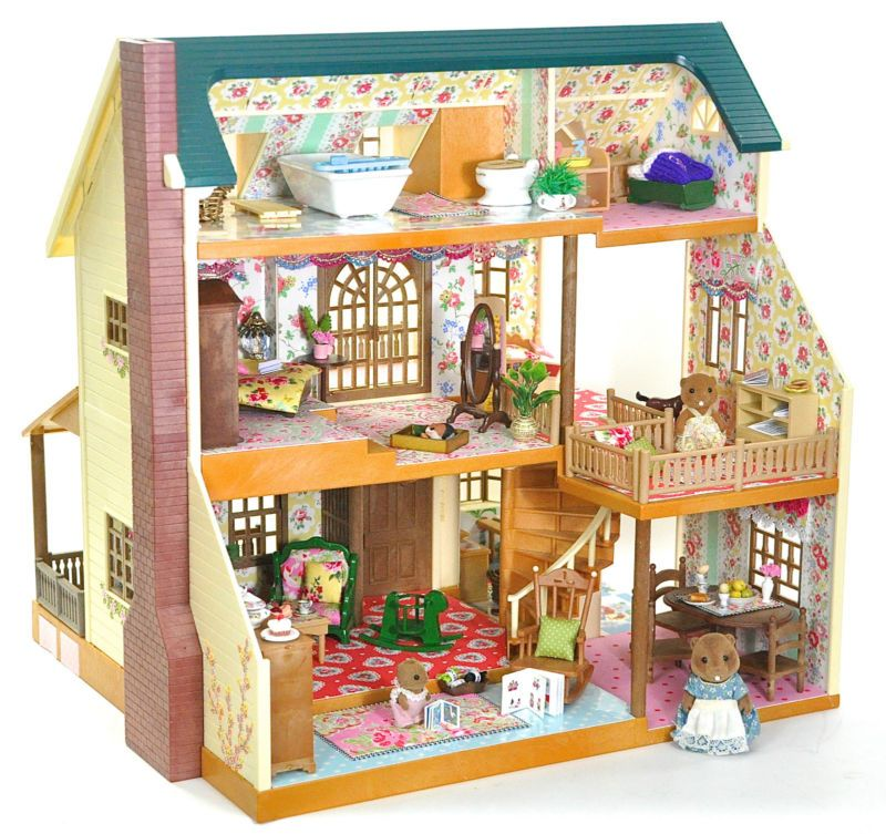 *fistuff* Sylvanian Families Decorated Large Manor House Furniture + Lots  Extra