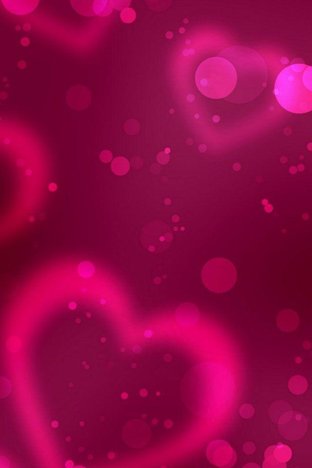 Pink Hearts Heart Wallpaper Bokeh Wallpaper Love Wallpaper