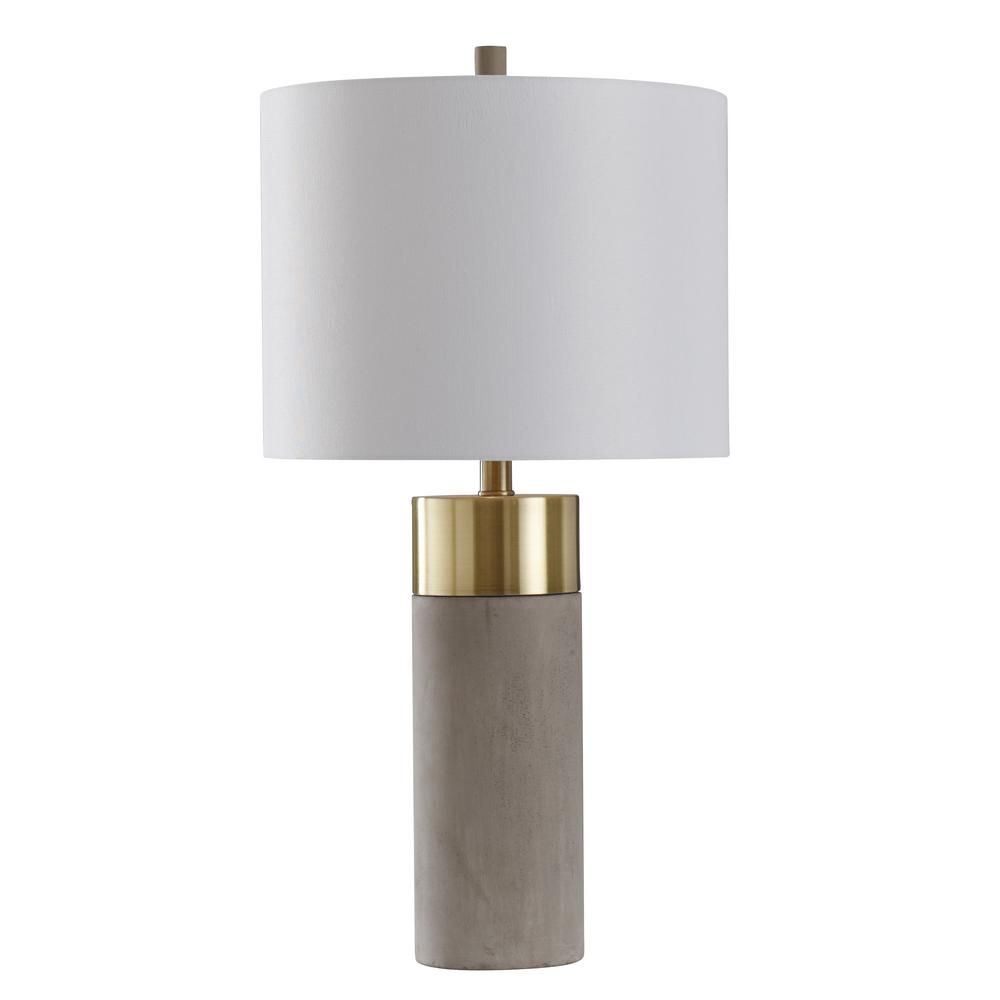 Concrete Cylinder Table Lamp Unique Table Lamps Table Lamp Design Table Lamps Living Room