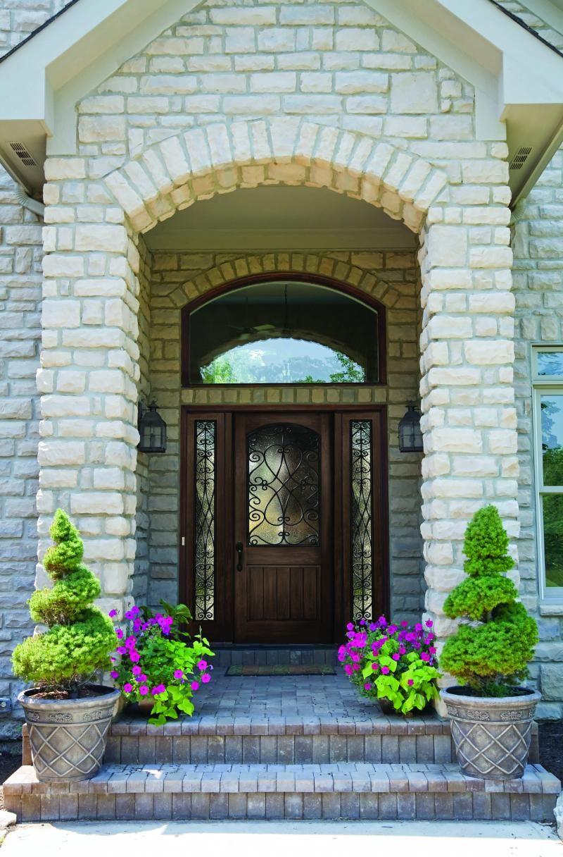 Double front doors with stone porch frontdoordesigns