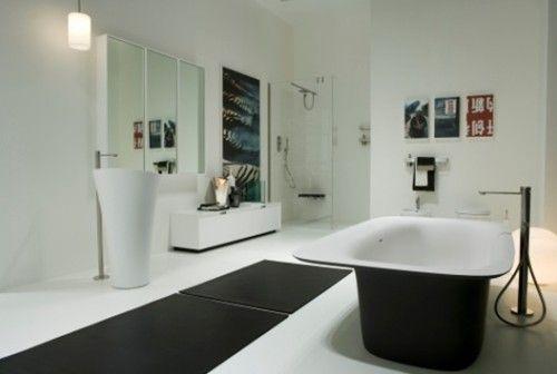 15 ba os modernos en color blanco arquitectura for Arquitectura banos modernos