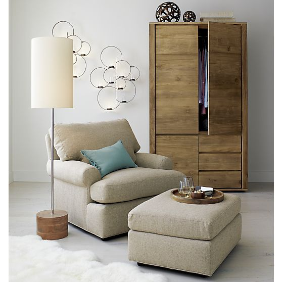 Ellyson Chair/Ottoman | Crate and Barrel | Living Room | Pinterest ...