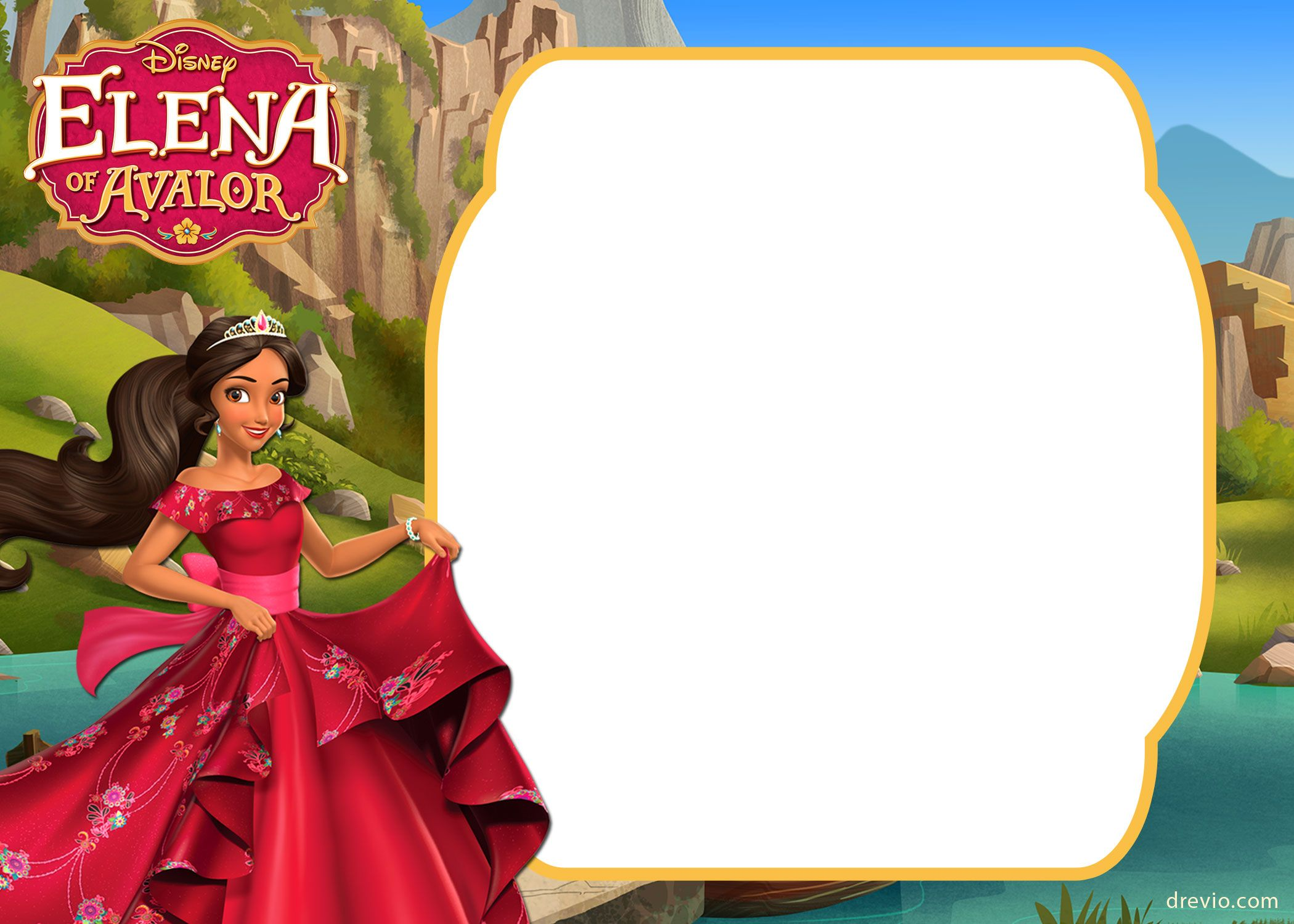 Download FREE Printable Elena Of Avalor Invitation Template