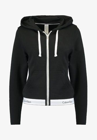 347e4b8076aa1 Calvin Klein Underwear HOODIE FULL ZIP - Pyjama top - black - Zalando.co.uk