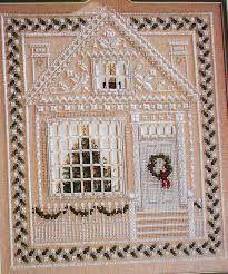 Risultati immagini per christmas cross stitch house
