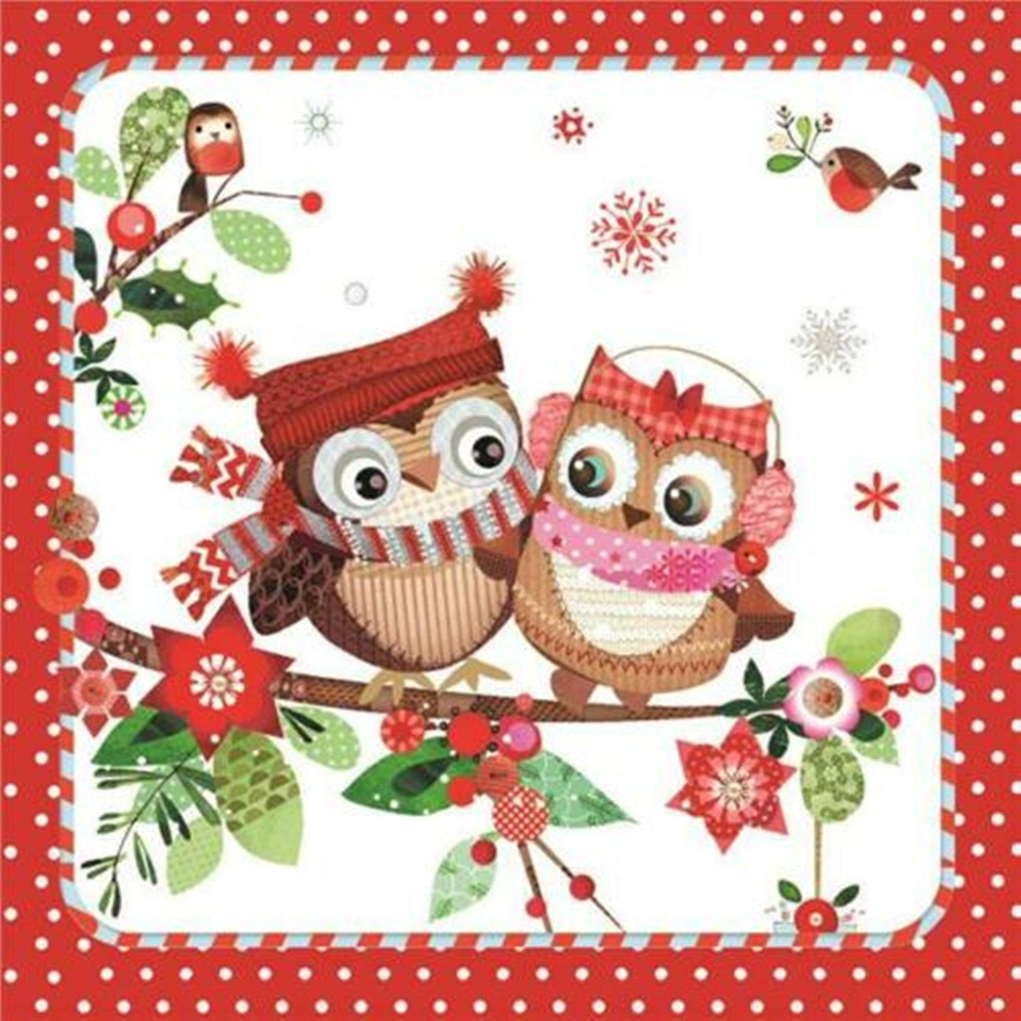 LITTLE OWLS 4 x Single  Table Paper Napkins Craft Party //for Decoupage