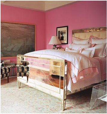When you live alone, you can get away with a pink bedroom. Do it while you're single!
