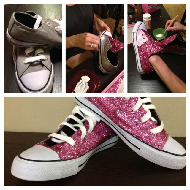 Pin By Victoria Holt On Diy Crafts And More Diy Glitter Shoes