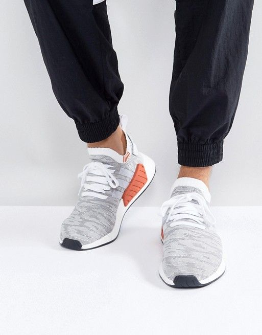 new product 04752 899fd adidas Originals NMD R2 Primeknit Sneakers In White BY9410. adidas  Originals NMD R2 Primeknit Sneakers In White BY9410 Cuero Para Hombres,  Zapatillas ...