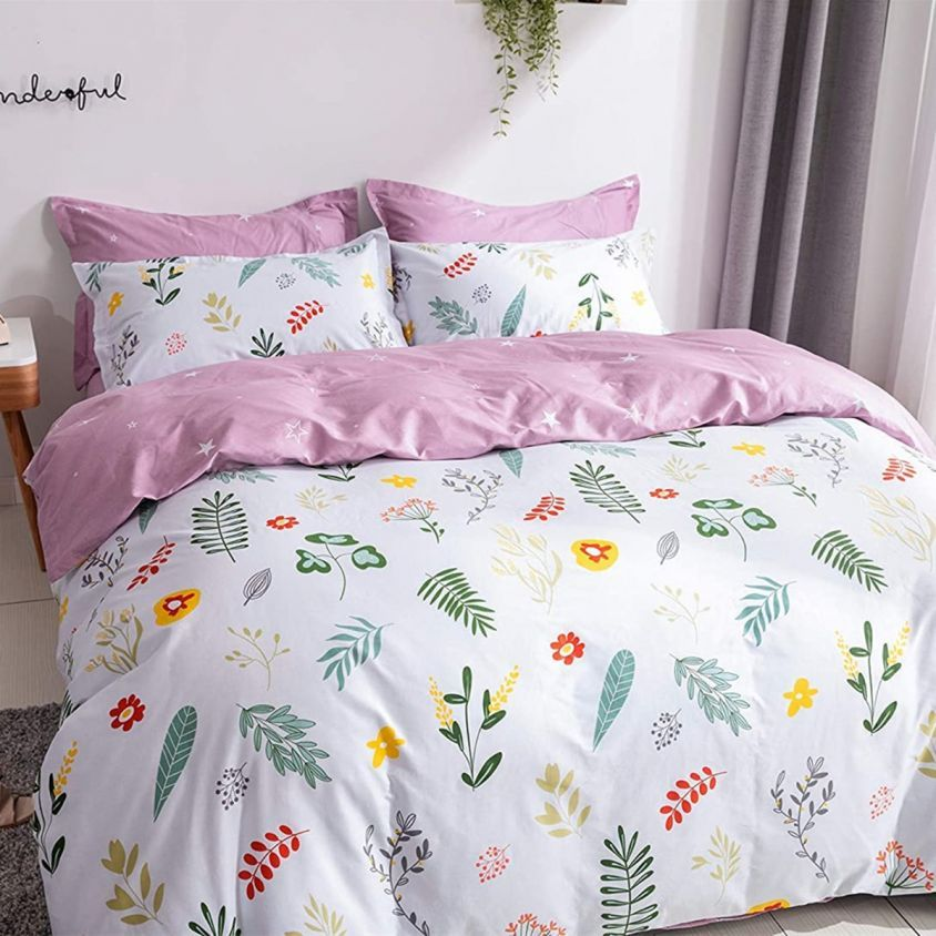 French Country Style Bedding Set 100 Cotton 3pcs Farmhouse Floral Duvet Cover Set 1 Duvet Cover And 2 Pillowcases Country Style Bed Duvet Cover Sets Floral Duvet Cover