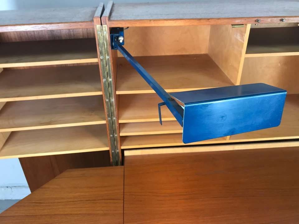 Mummenthaler And Meier Cabinet Desk Box Magic Box Work Station Danish Scandinavian Modern Brass Teak Teak Magic Box Cubby Storage