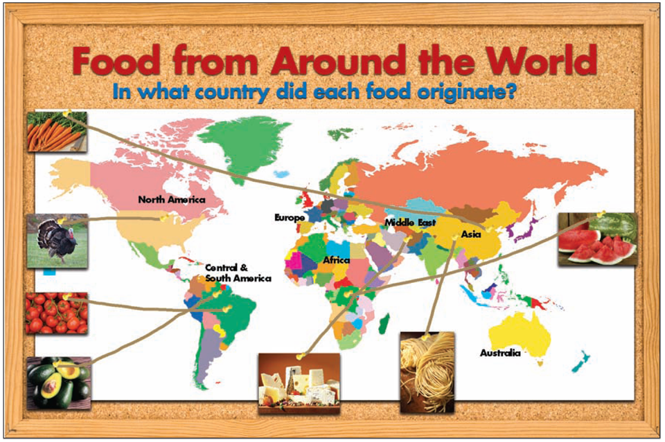Pinterest around the world bulletin boards bb 2 food for Around the world cuisine