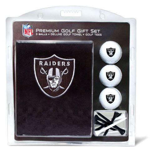 NEW NFL Oakland Raiders Embroidered Golf Towel (3 Golf Balls/12 Tee Gift Set)