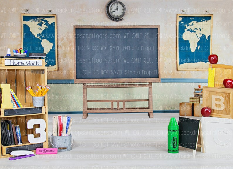 GoEoo 8x8ft Hand Drawing Blackboard Background Kids Child Students Back to School Graduation Photo Booth Backdrop Stack of Books on Teachers Desk Video Drapes Photo Studio Props
